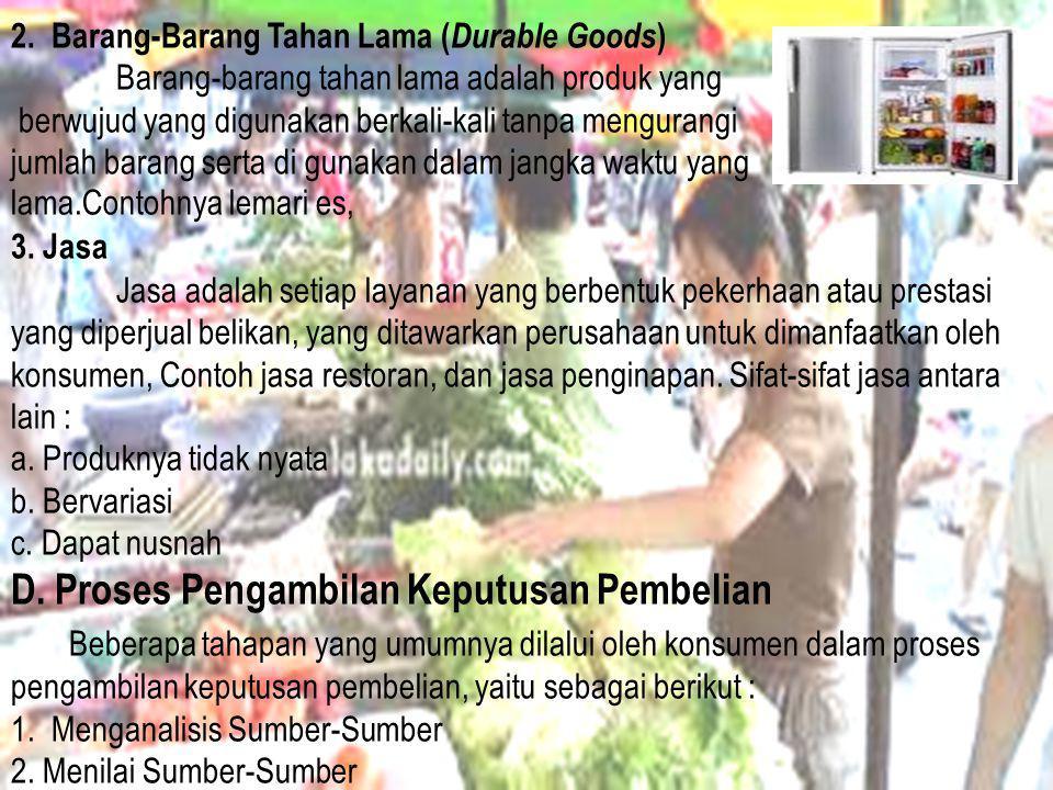 2. Barang-Barang Tahan Lama (Durable Goods)