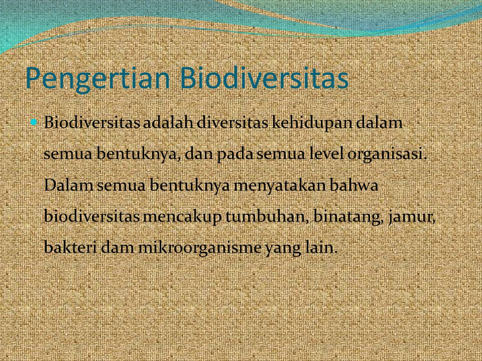 Pengertian Biodiversitas