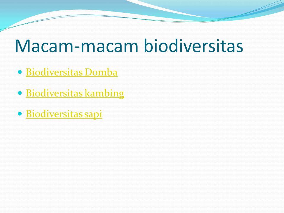 Macam-macam biodiversitas