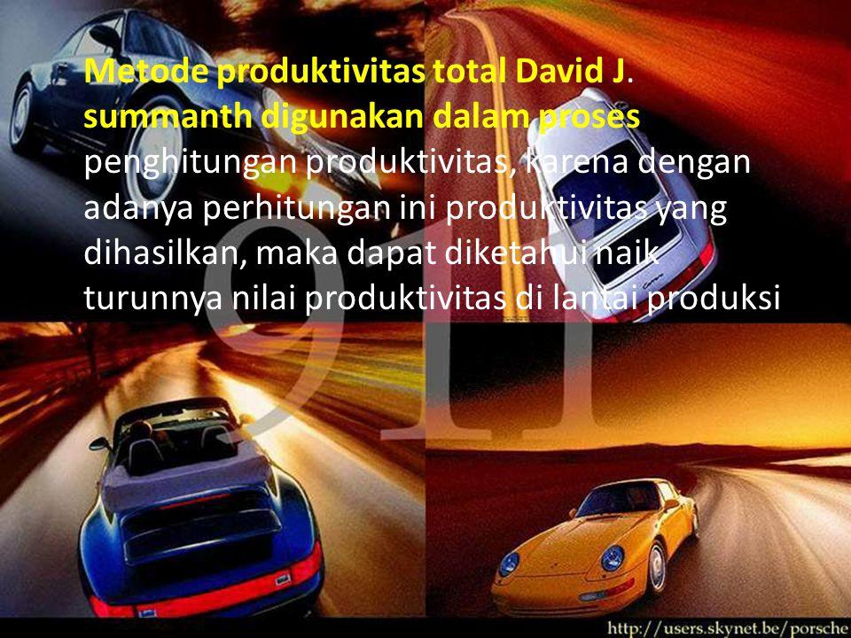 Metode produktivitas total David J