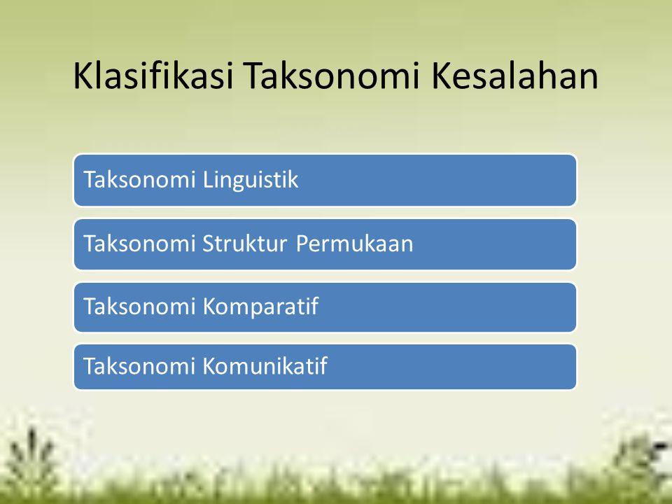 Klasifikasi Taksonomi Kesalahan