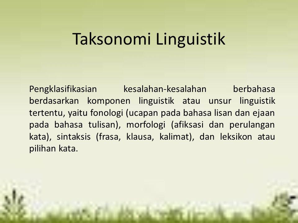 Taksonomi Linguistik