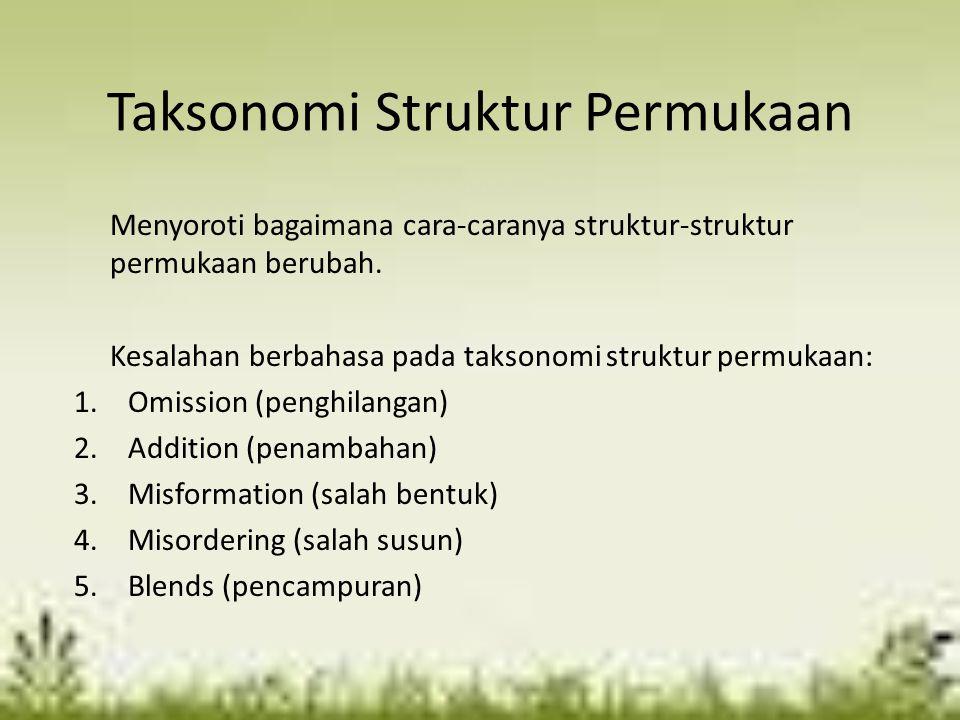 Taksonomi Struktur Permukaan