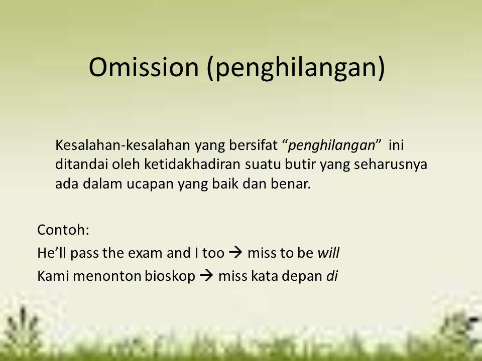 Omission (penghilangan)