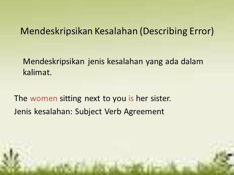 Mendeskripsikan Kesalahan (Describing Error)