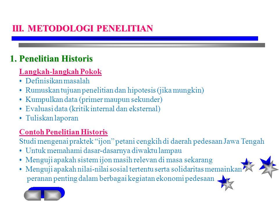 III. METODOLOGI PENELITIAN