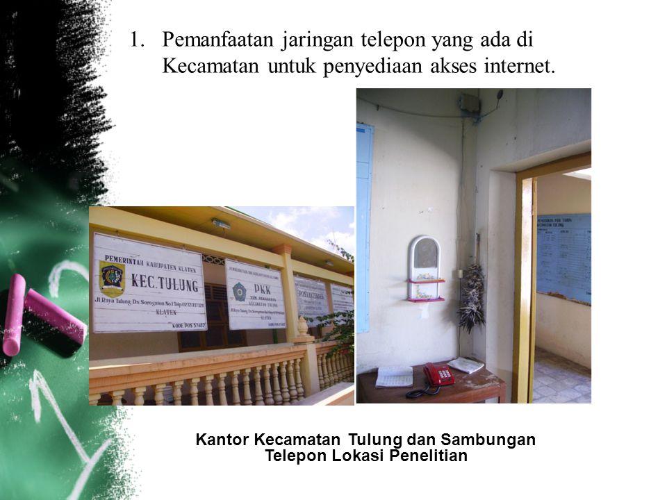 Kantor Kecamatan Tulung dan Sambungan Telepon Lokasi Penelitian