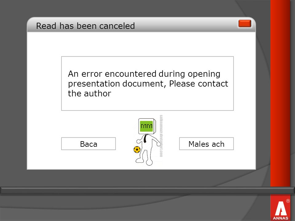 Read has been canceled An error encountered during opening presentation document, Please contact the author.