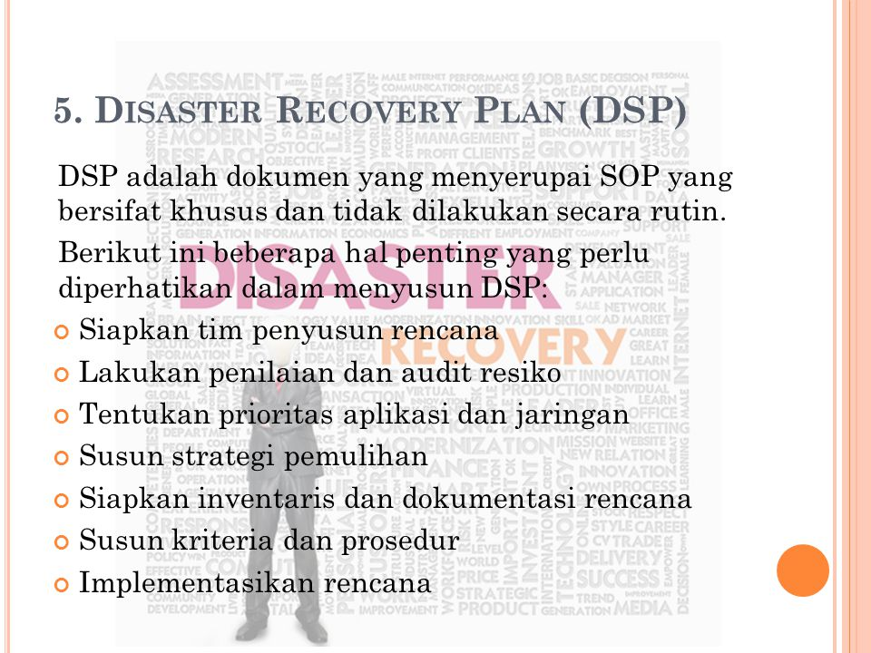 5. Disaster Recovery Plan (DSP)