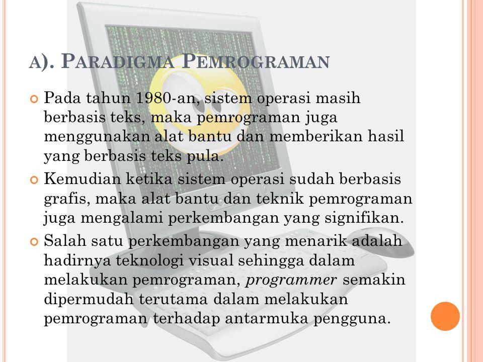 a). Paradigma Pemrograman
