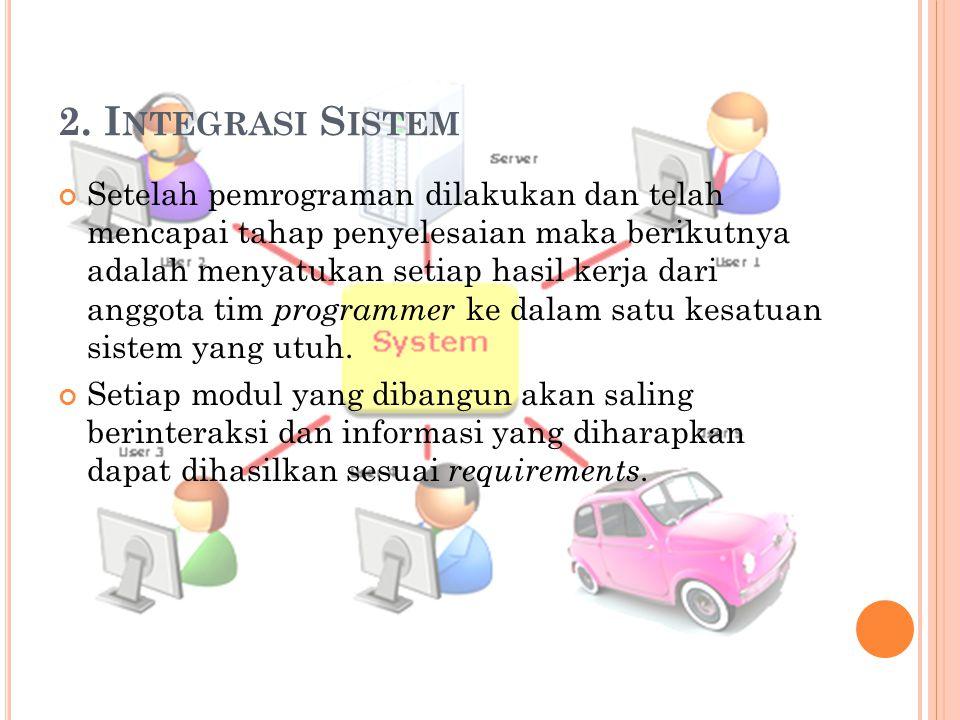 2. Integrasi Sistem