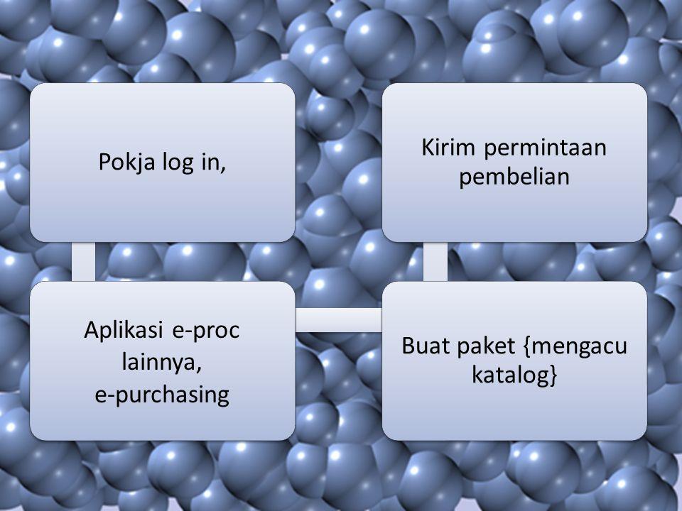 Aplikasi e-proc lainnya, e-purchasing Buat paket {mengacu katalog}