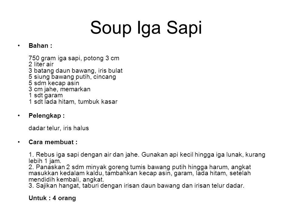 Soup Iga Sapi