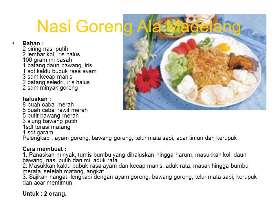 Nasi Goreng Ala Magelang