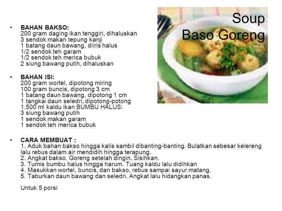 Soup Baso Goreng