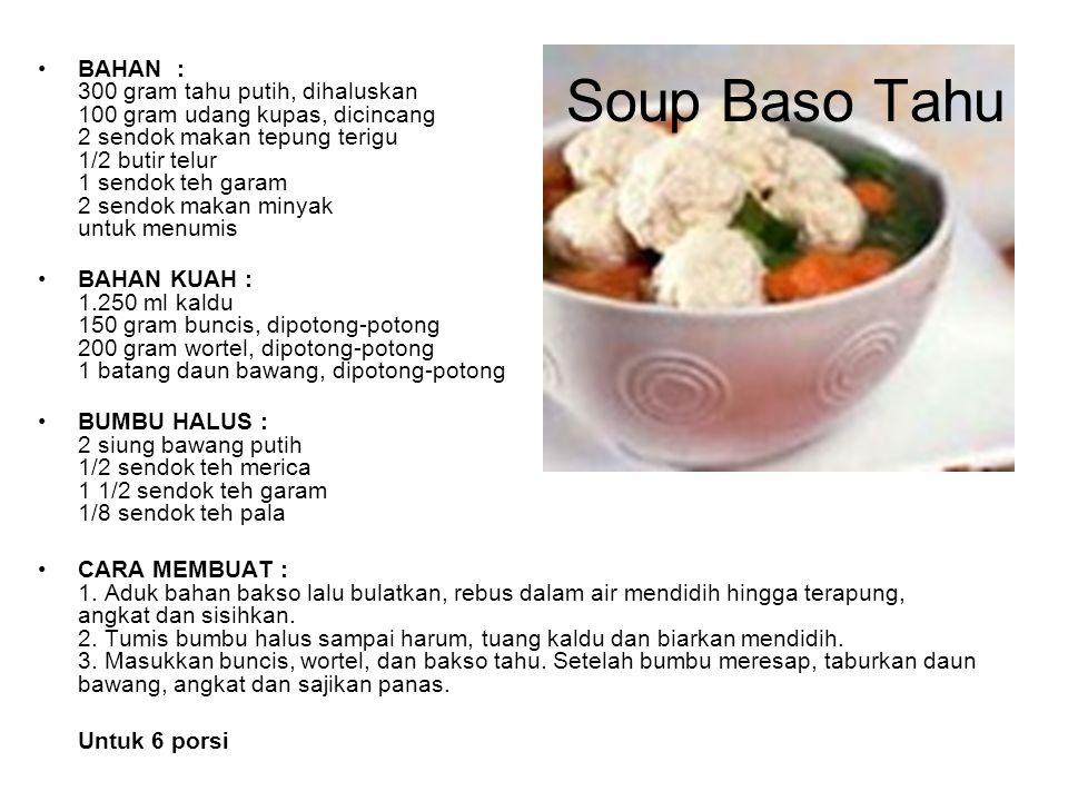 Soup Baso Tahu