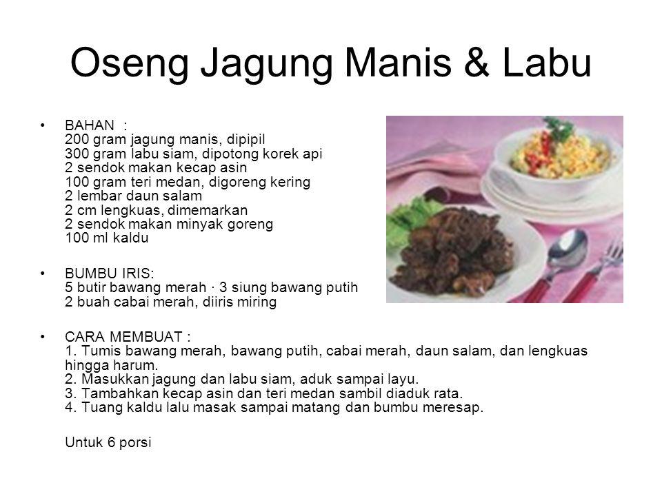 Oseng Jagung Manis & Labu
