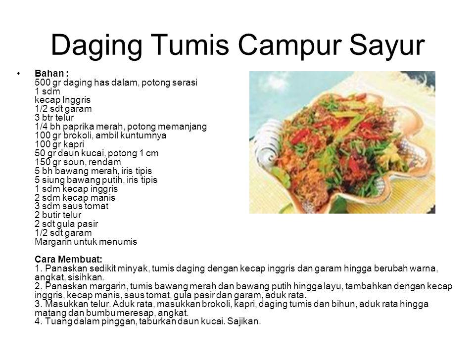 Daging Tumis Campur Sayur