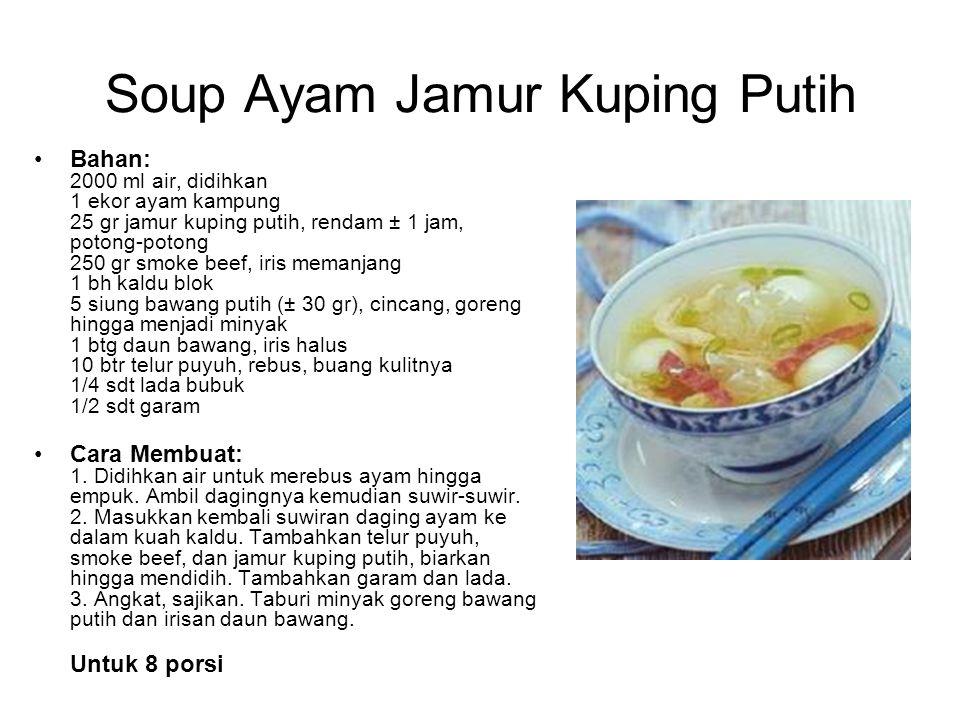 Soup Ayam Jamur Kuping Putih