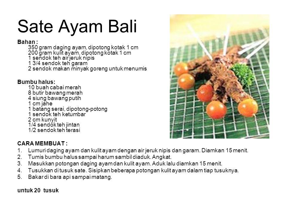 Sate Ayam Bali