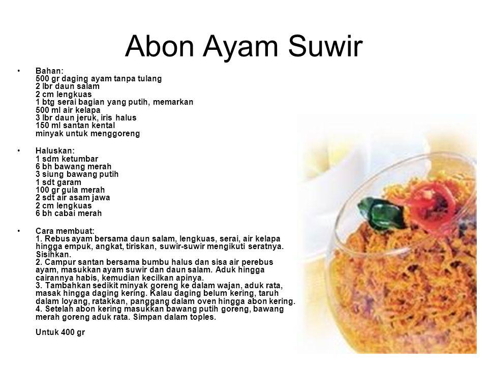 Abon Ayam Suwir