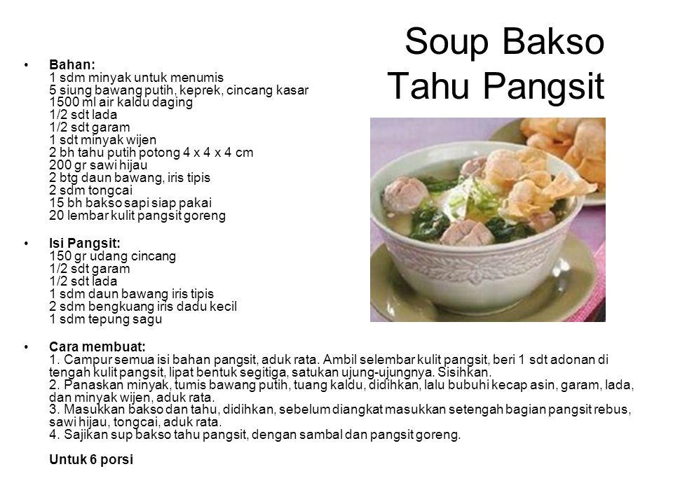 Soup Bakso Tahu Pangsit