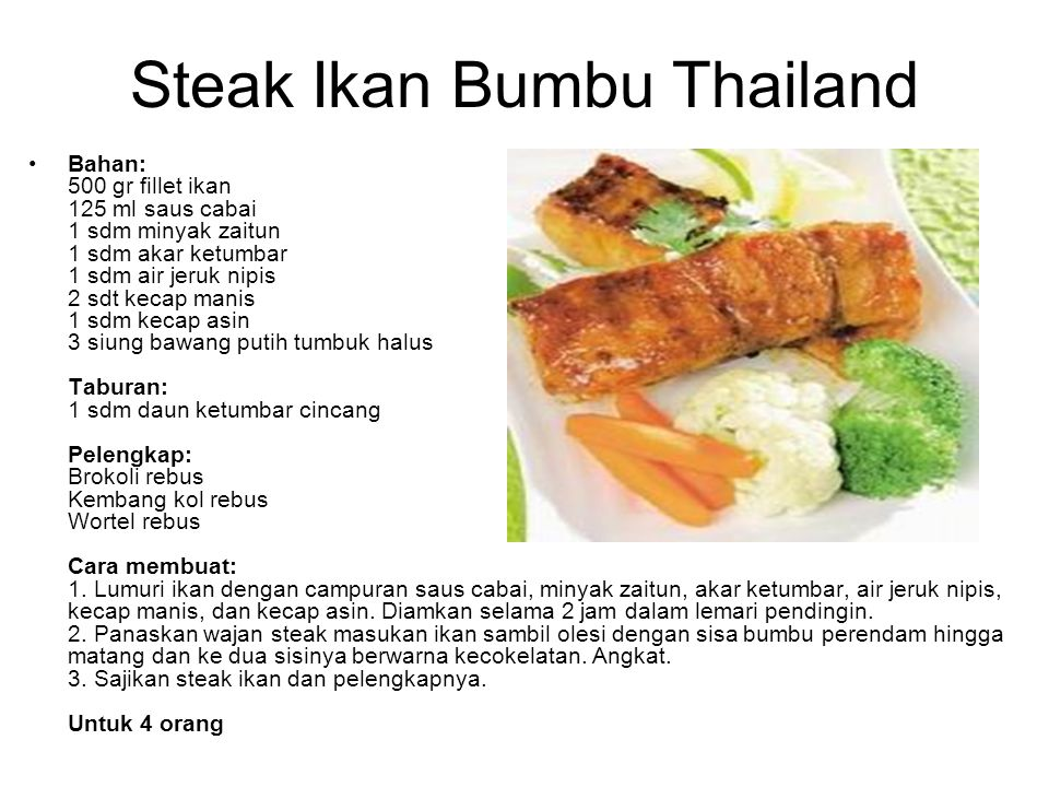 Steak Ikan Bumbu Thailand