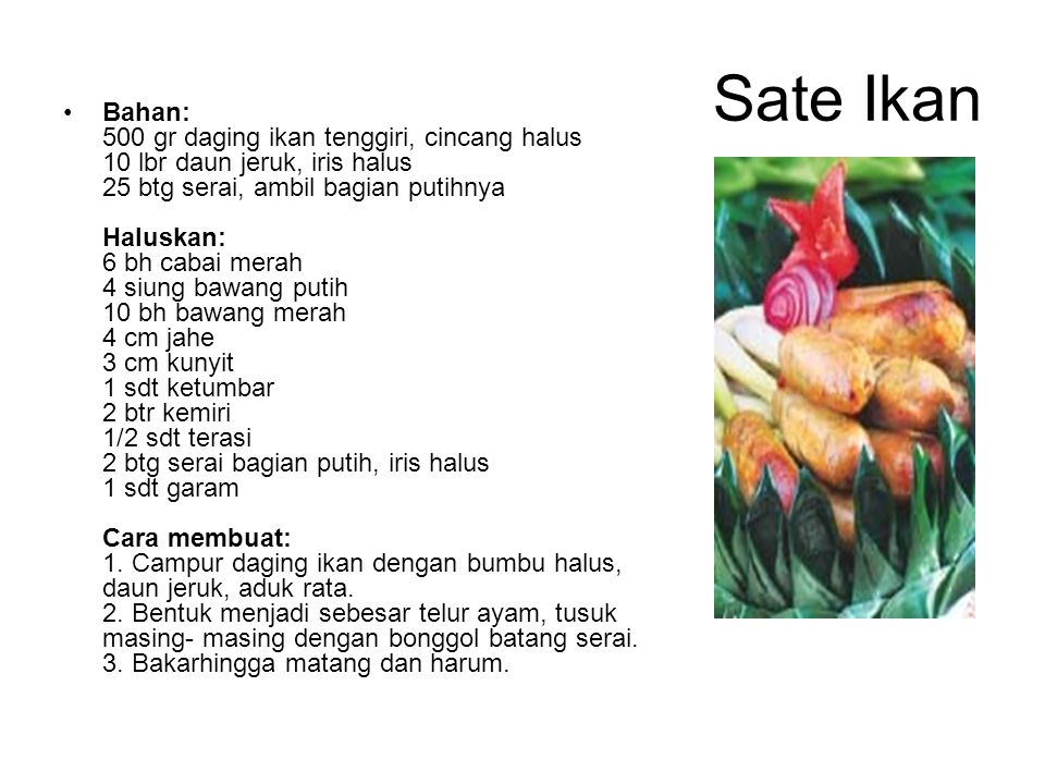 Sate Ikan