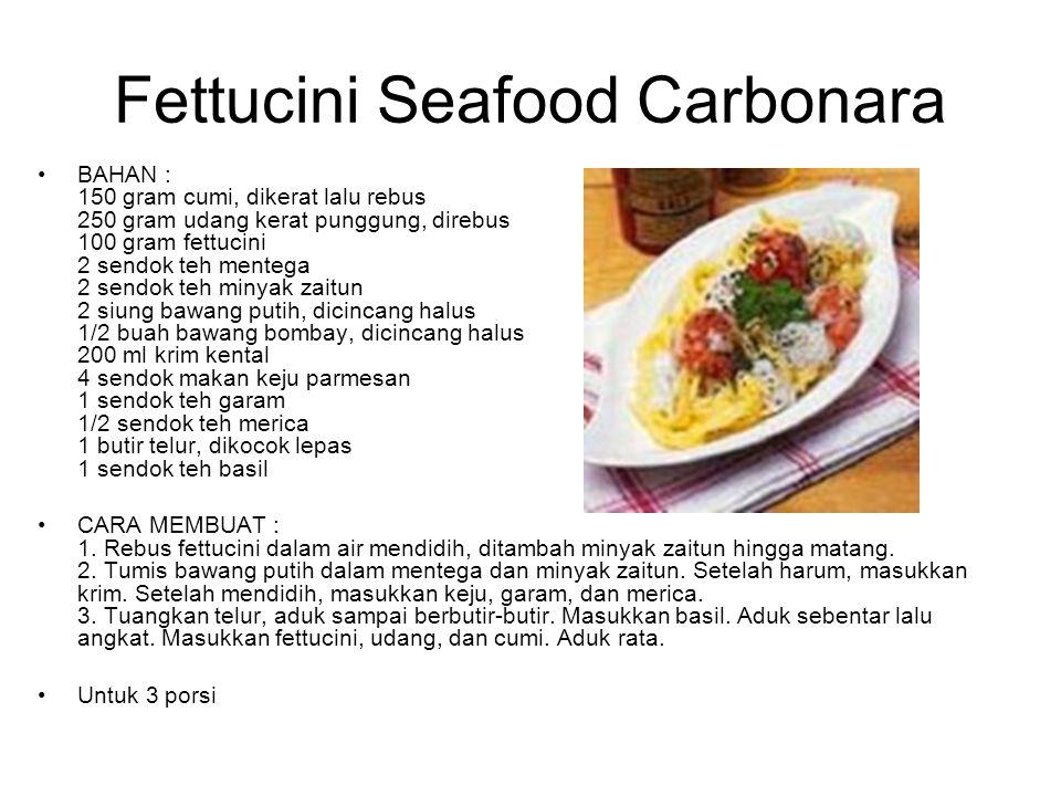 Fettucini Seafood Carbonara