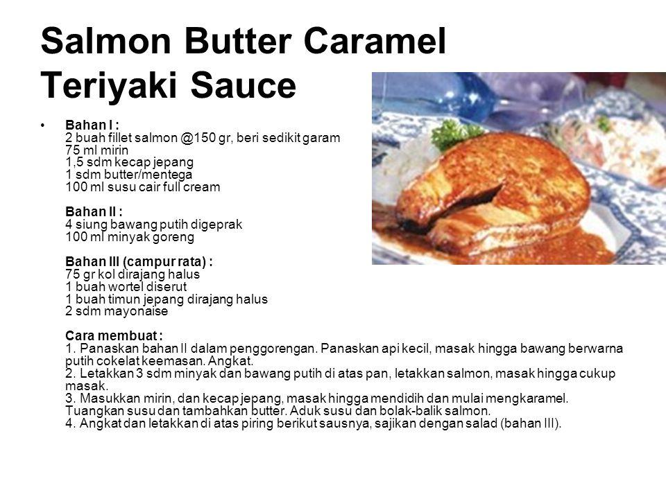 Salmon Butter Caramel Teriyaki Sauce