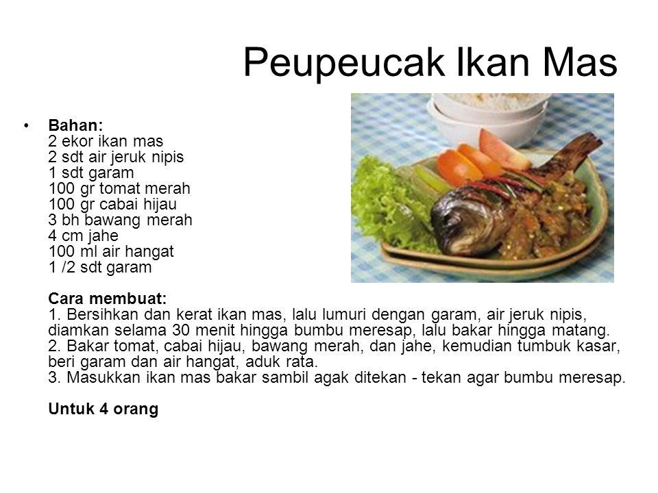 Peupeucak Ikan Mas