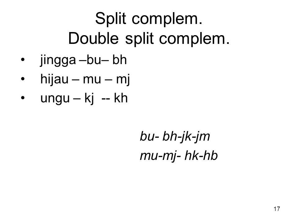 Split complem. Double split complem.