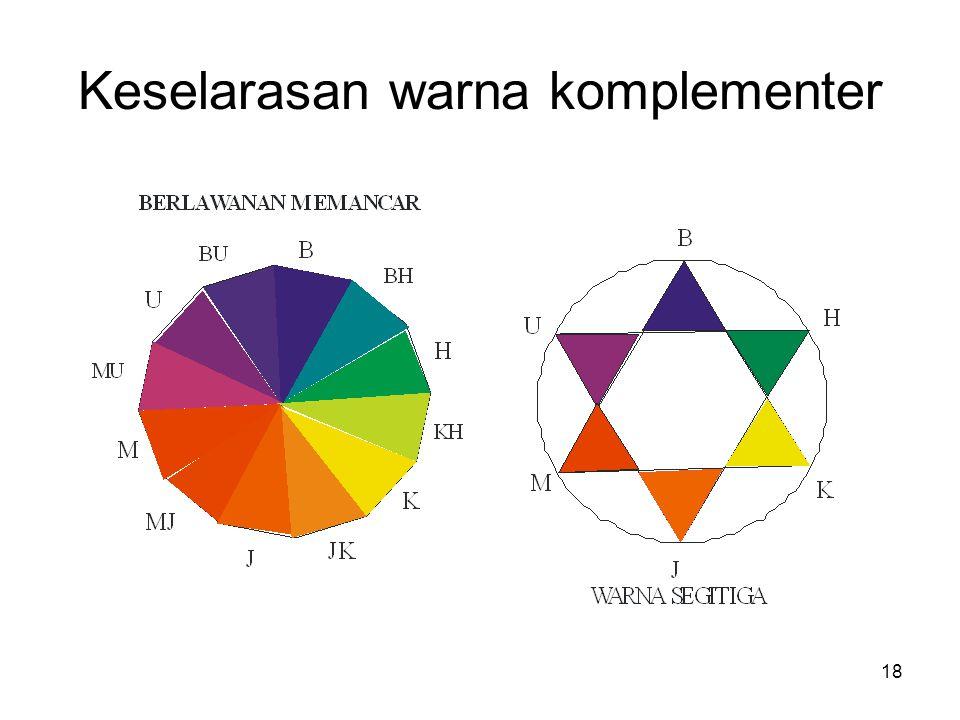 Keselarasan warna komplementer