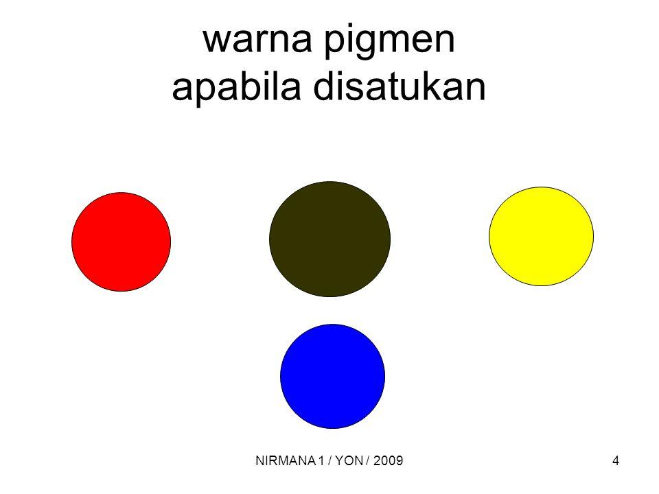 warna pigmen apabila disatukan