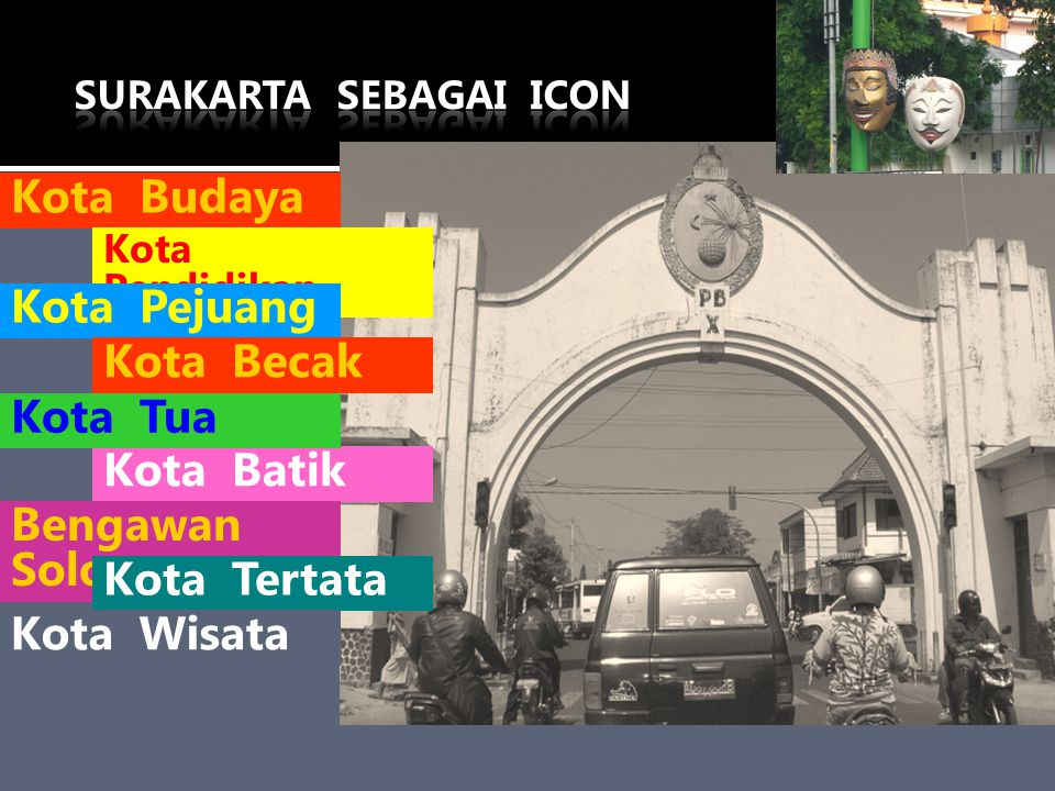 Kota Budaya Kota Pejuang Kota Becak Kota Tua Kota Batik Bengawan Solo