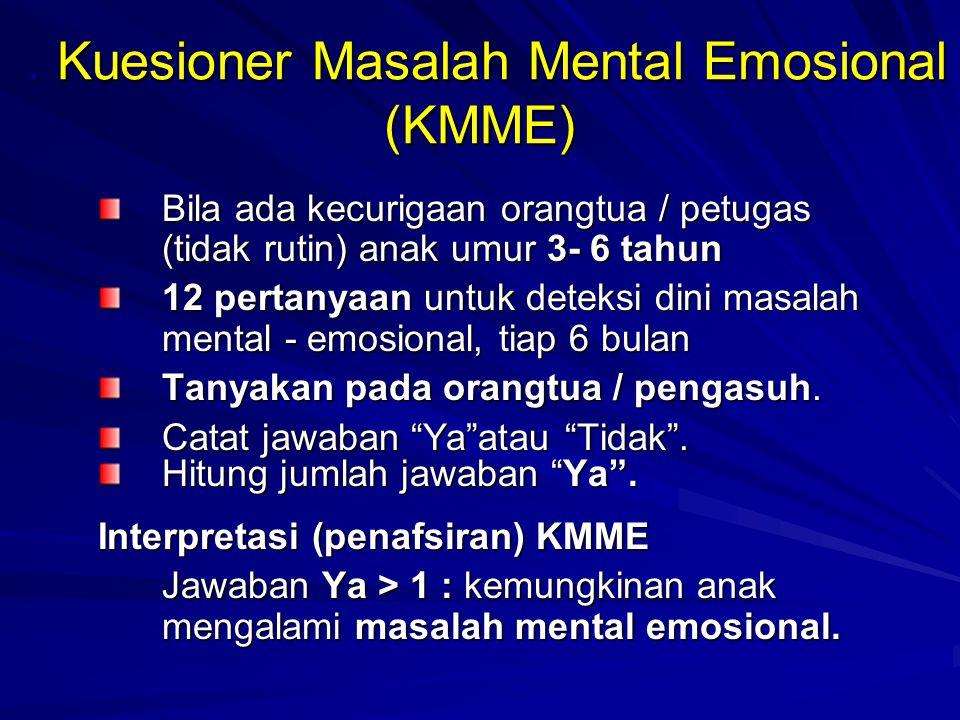 . Kuesioner Masalah Mental Emosional (KMME)