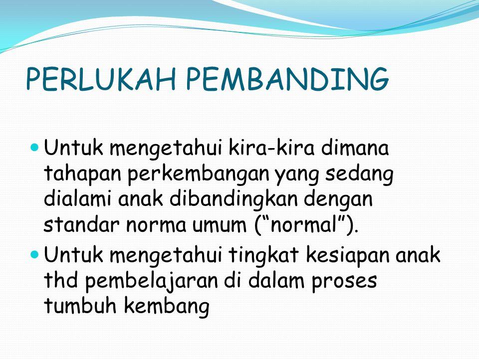 PERLUKAH PEMBANDING