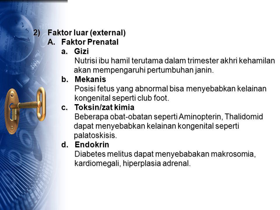 2) Faktor luar (external)