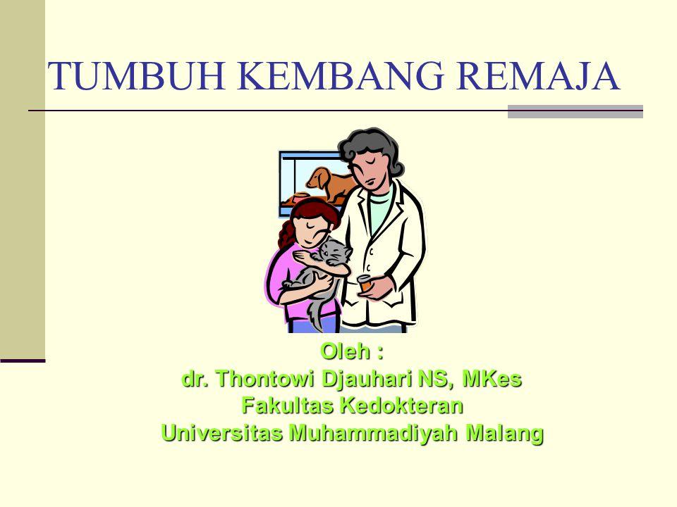 dr. Thontowi Djauhari NS, MKes Universitas Muhammadiyah Malang