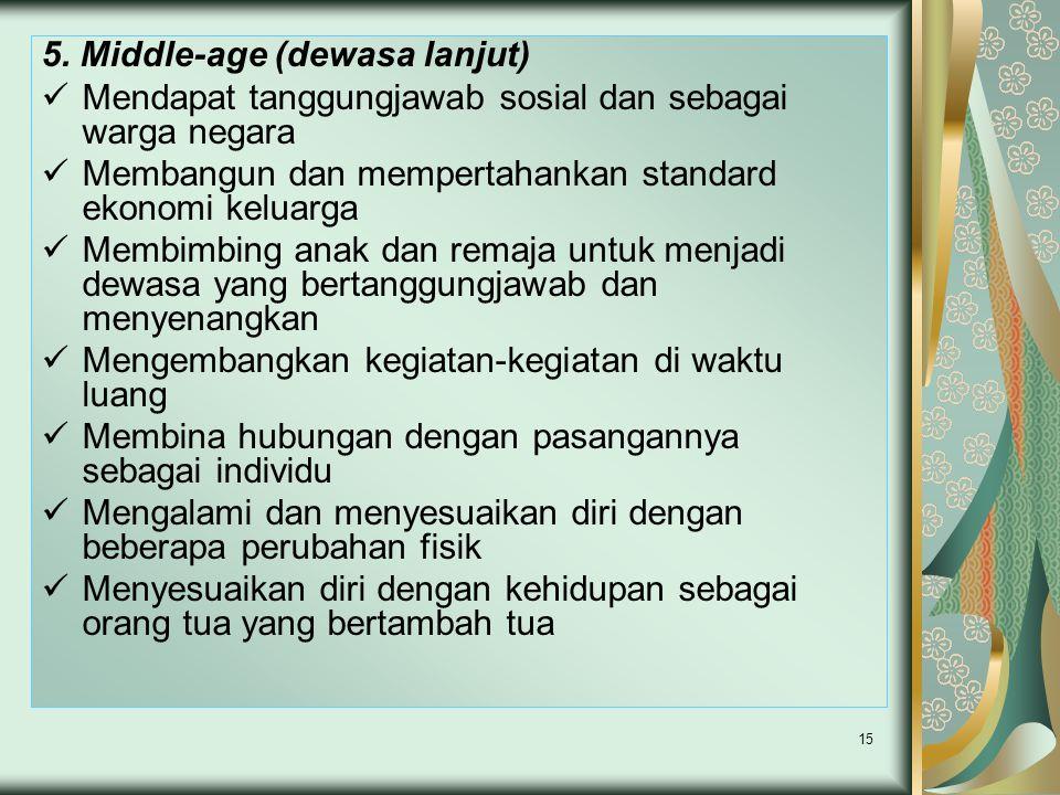 5. Middle-age (dewasa lanjut)
