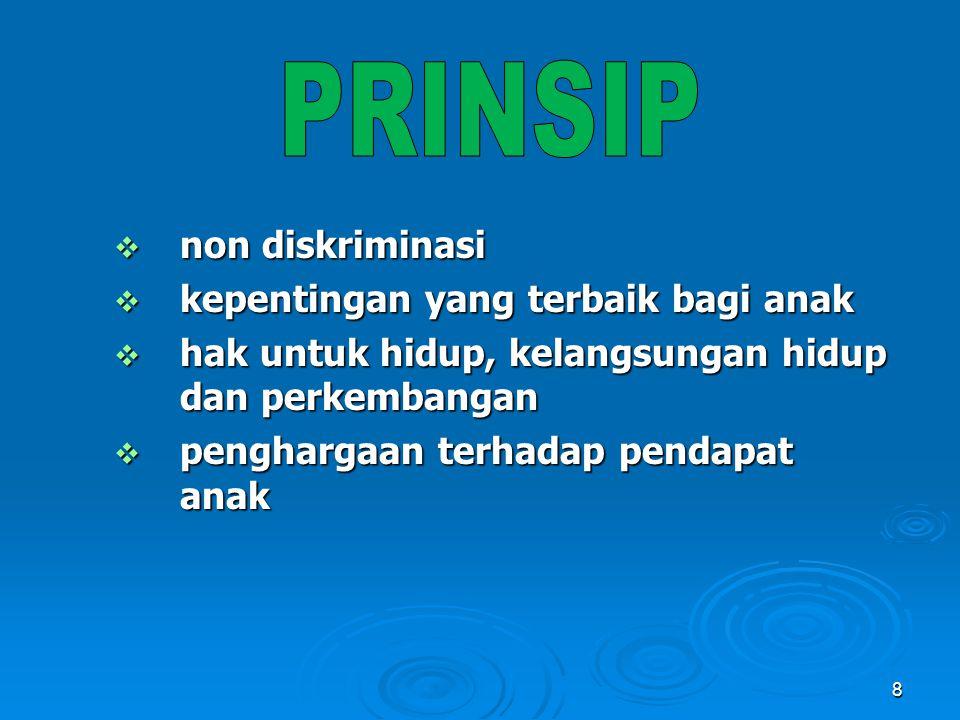 PRINSIP non diskriminasi kepentingan yang terbaik bagi anak
