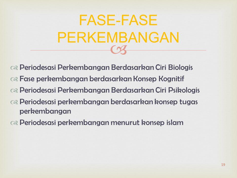 FASE-FASE PERKEMBANGAN
