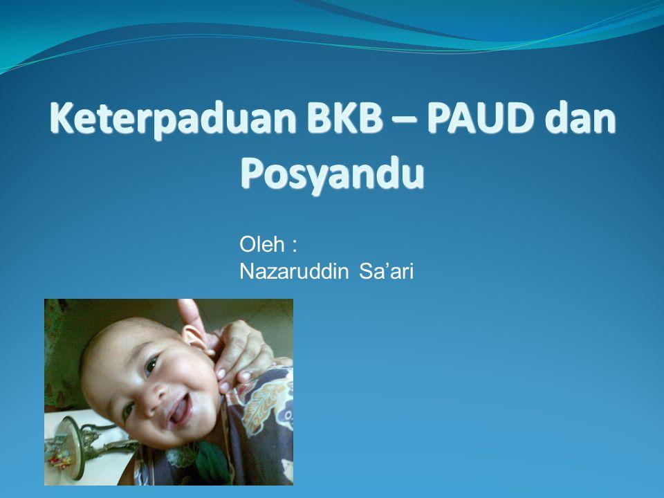 Keterpaduan BKB – PAUD dan Posyandu