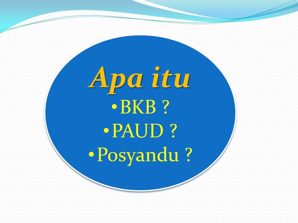 Apa itu BKB PAUD Posyandu