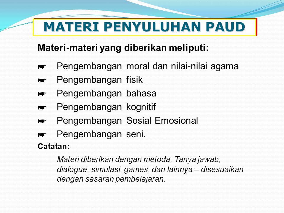 MATERI PENYULUHAN PAUD