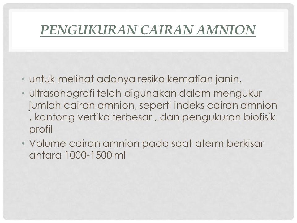 Pengukuran Cairan amnion