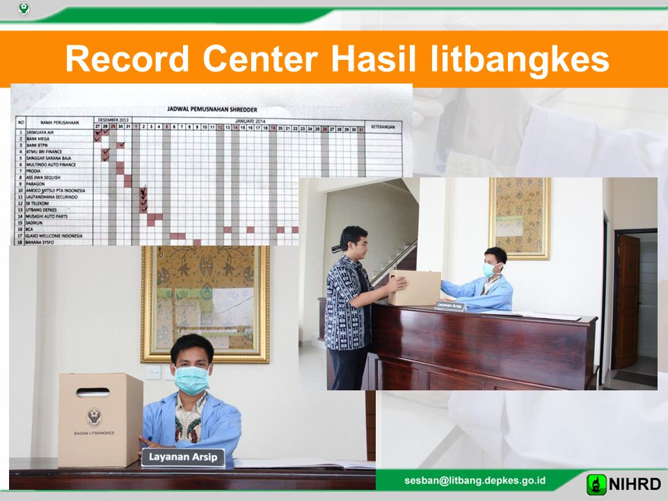Record Center Hasil litbangkes