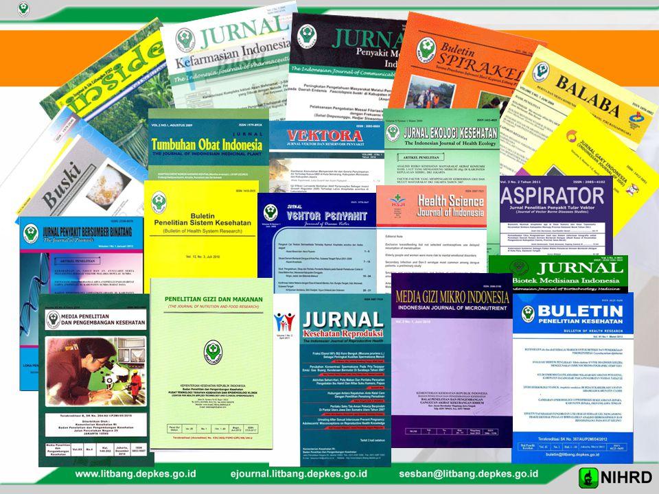 Jurnal baru : HSJI (2010), Kefarmasian (2012), Biotek Medisiana (2012), Penyakit bersumber binatang (2013)