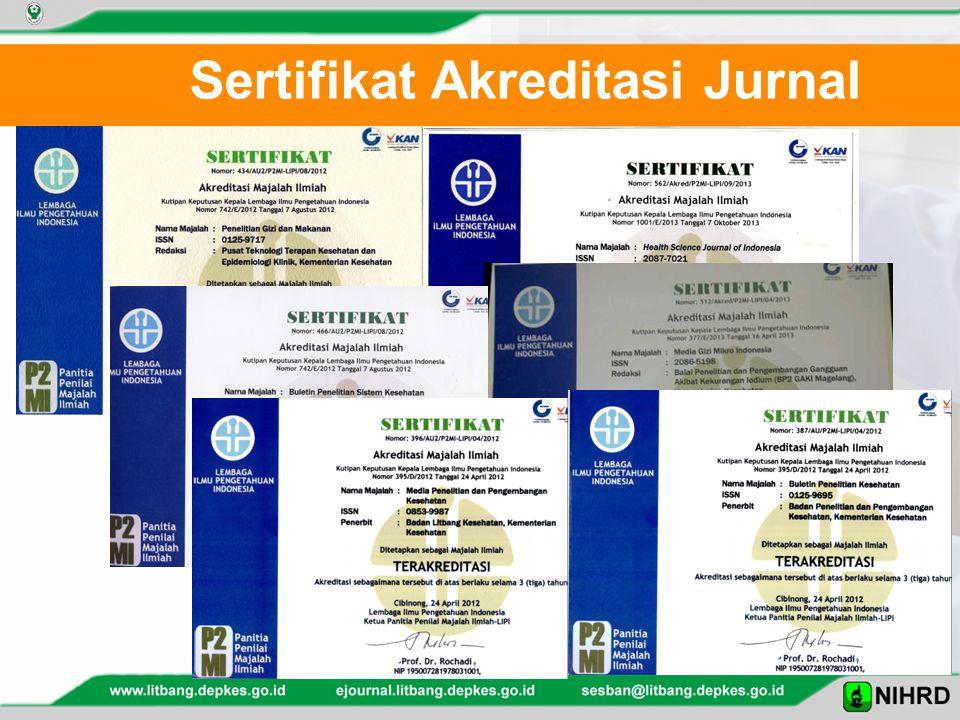 Sertifikat Akreditasi Jurnal
