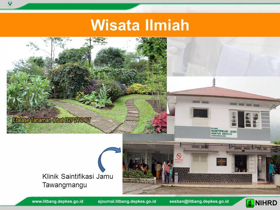 Wisata Ilmiah Klinik Saintifikasi Jamu Tawangmangu